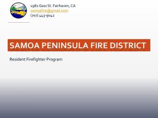 Samoa Peninsula Fire District