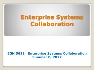 Enterprise Systems Collaboration
