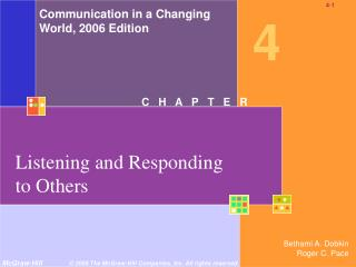 Listening and Responding to Others