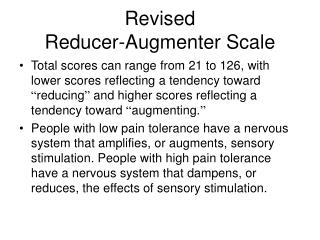 Revised Reducer-Augmenter Scale