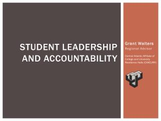 STUDENT LEADERSHIP AND ACCOUNTABILITY