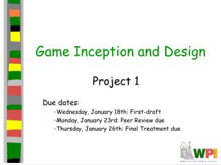 Game Inception and Design
