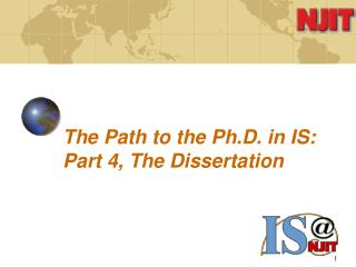 The Path to the Ph.D. in IS: Part 4, The Dissertation