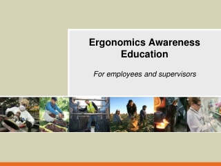 Ergonomic Awareness: Vibration