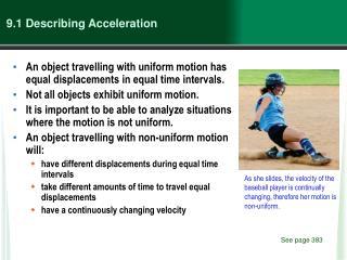 9.1 Describing Acceleration