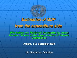 Estimation of GDP  from the expenditure side