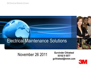 Electrical Maintenance Solutions