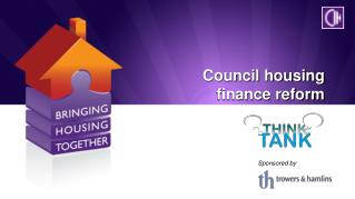 Council housing finance reform