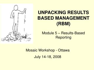 UNPACKING RESULTS BASED MANAGEMENT (RBM) Module 5 – Results-Based Reporting