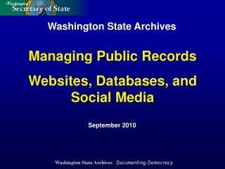 Washington State Archives