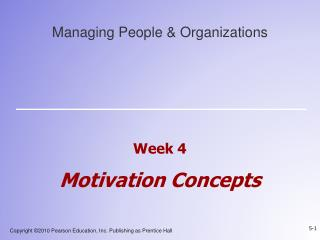 Week 4  Motivation Concepts
