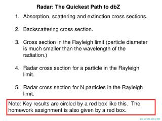 Radar: The Quickest Path to dbZ