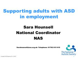 Supporting adults with ASD in employment