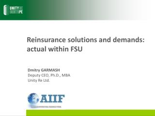 Reinsurance  solutions and  demand s: actual within FSU