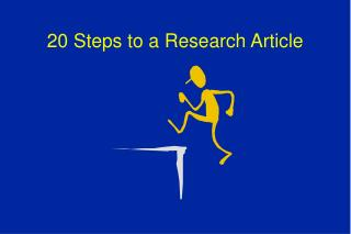 20 Steps to a Research Article
