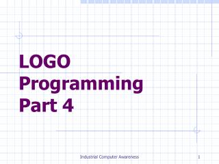 LOGO Programming Part 4