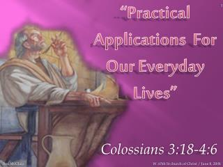 """Practical Applications  For Our Everyday Lives"""