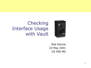 Checking  Interface Usage with Vault
