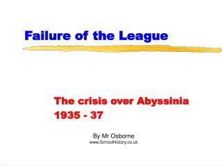 Failure of the League
