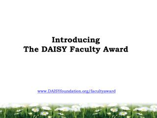 Introducing  The DAISY Faculty Award