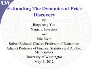 Estimating The Dynamics of Price Discovery