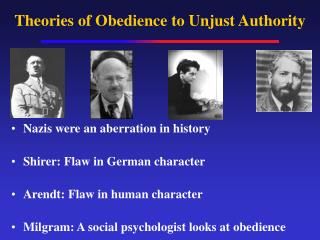 Theories of Obedience to Unjust Authority