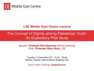 LSE Middle East Centre Lecture
