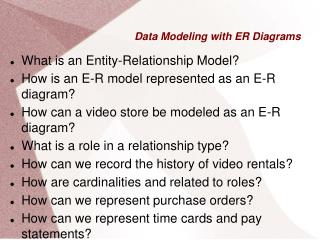 Data Modeling with ER Diagrams