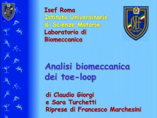 Analisi biomeccanica  dei toe-loop