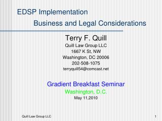 EDSP Implementation Business and Legal Considerations