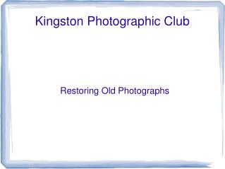 Kingston Photographic Club