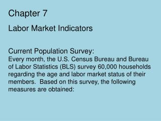 Chapter 7 Labor Market Indicators