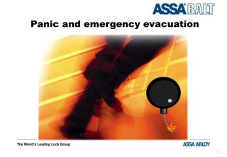 Panic and emergency evacuation