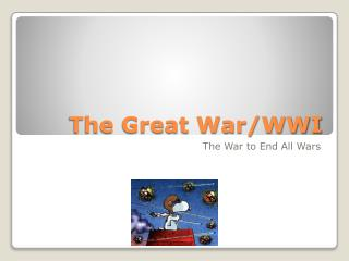The Great War/WWI