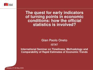 Gian Paolo Oneto ISTAT