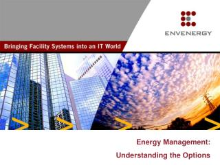 Energy Management: Understanding the Options