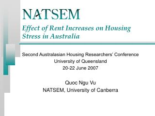 Effect of Rent Increases on Housing Stress in Australia