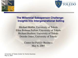 The Millennial Salesperson Challenge:   Insights into Intergenerational Selling