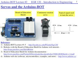 Servos and the  Arduino -BOT