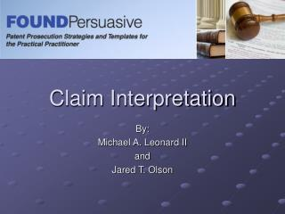 Claim Interpretation