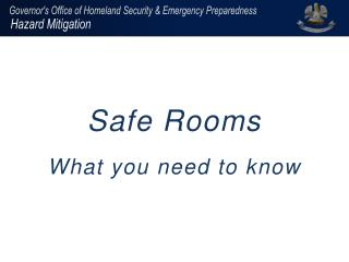 Safe Rooms  What you need to know