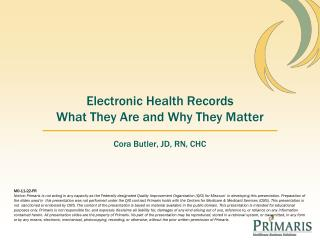 Electronic Health Records What They Are and Why They Matter