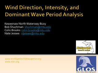 Wind Direction, Intensity, and Dominant Wave Period Analysis