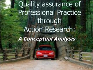 Quality assurance of Professional Practice through  Action Research: