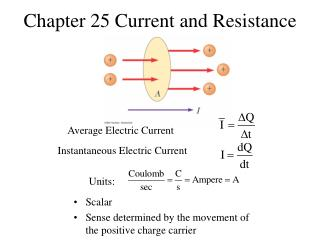 Chapter 25 Current and Resistance