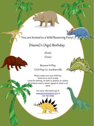 You are  Invited to  a  Wild Bouncing Party!