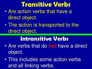 Transitive Verbs