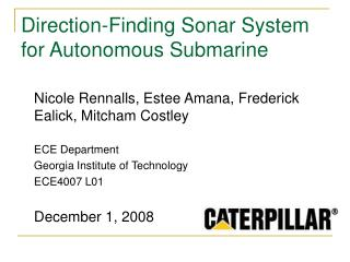 Direction-Finding Sonar System for Autonomous Submarine