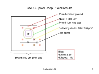 CALICE pixel Deep P-Well results