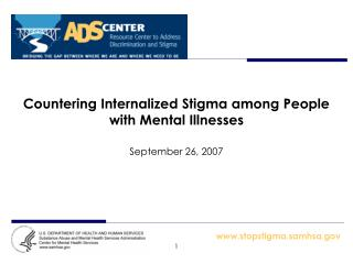 Countering Internalized Stigma among People with Mental Illnesses